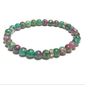 Jewelry - Ruby Zoisite Bracelet.